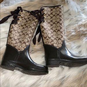 Coach rain boots size 37